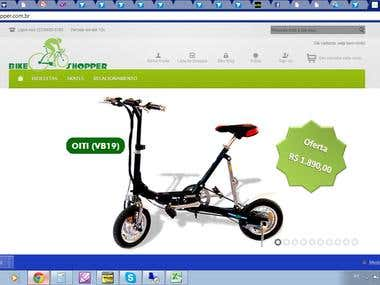 E-COMMERCE FOR SOLD ELETRIC BIKES