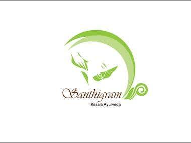 Logo for Santhigram Kerala Ayurveda