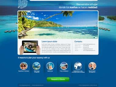 Imagina Polinesia Landing Page