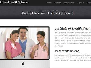 Institute of health and science Educational site
