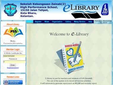 Web Application : E-Library