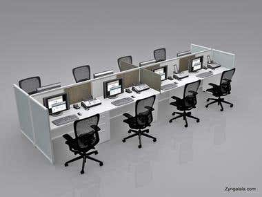 3D Visualization of Furniture / Work Station by Zyngalala