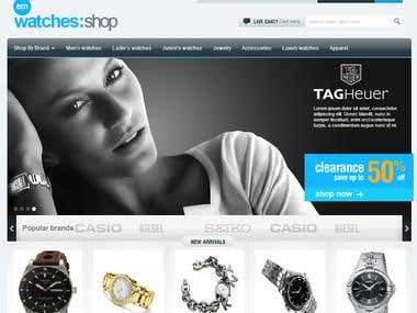 An E Commerce Watch Store built on Magento