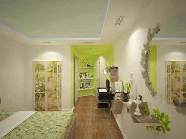 Interior design project Alushta