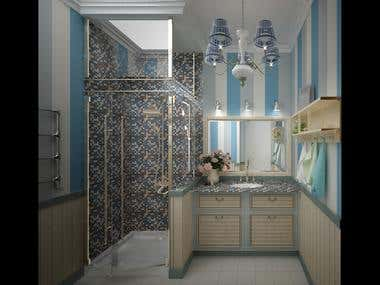 Interior design of a flat