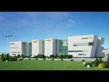 Airport exterior visualization project
