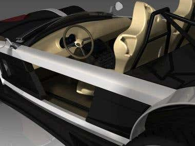 Sport car 3D Modeling