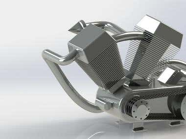 Design and rendered in solidworks
