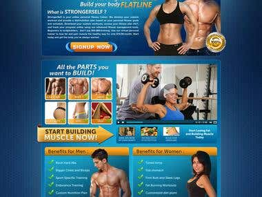 Gym Website - PSD to HTML + PHP