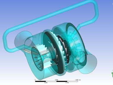3D-modeling of a Centrifugal Compressor