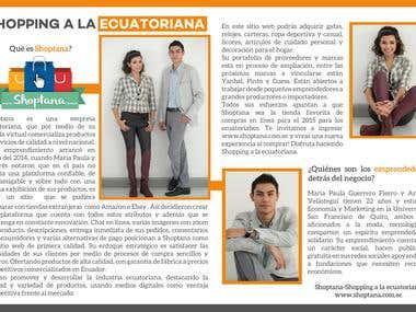 PubliReportaje Revista STATUSuio Ecuador