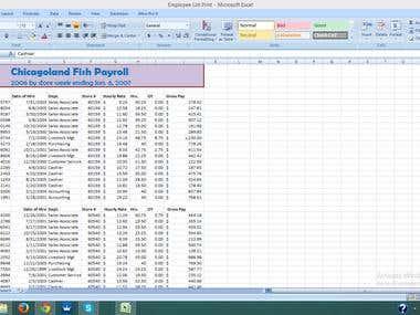 Chicagoland Fish Employee List