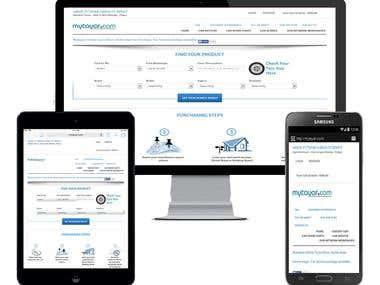 Online tyre portal, completely responsve