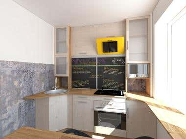 Small kitchen for young family