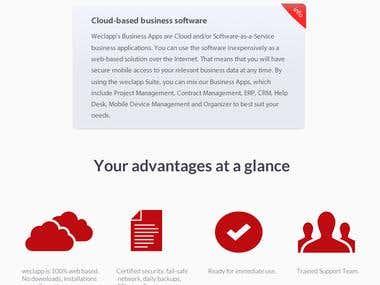 website design for weclapp GmbH