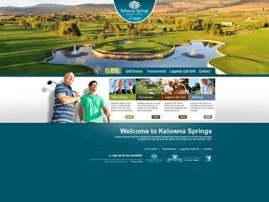 Golf Club Website - PSD to HTML