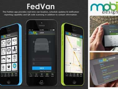 The FedVan app provides real-time van location, schedule upd