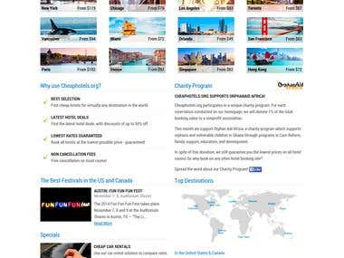 cheaphotels.org - redesign, psd to html