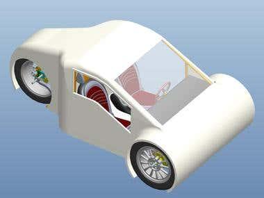 2 seat car design