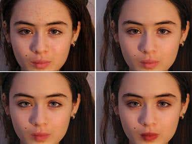 Photoshop Face Retouching and Airbrushing