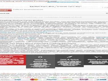 Forex website, 20,000+ words