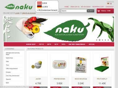 Deutsch E-commerce website.