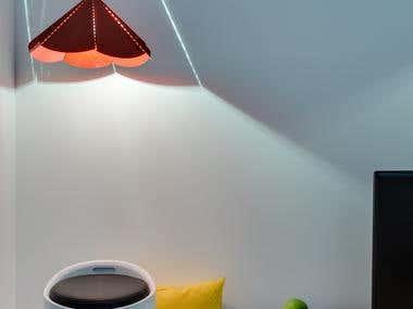 Apartment interior design for a bachelor