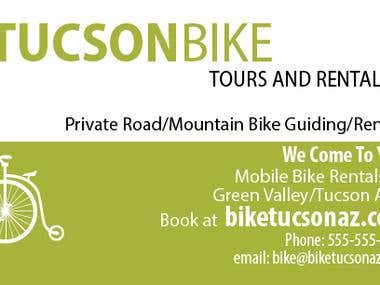 Business Card for Mobile/Bike Rental business