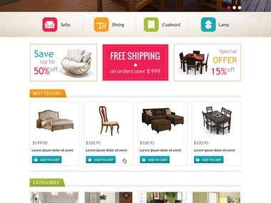 Furniture store in opencart