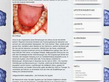 Geschichte der Zahmedizin/ Artikel für Webseite