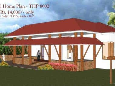 Traditional House Planning and Design from HomePlansIndia