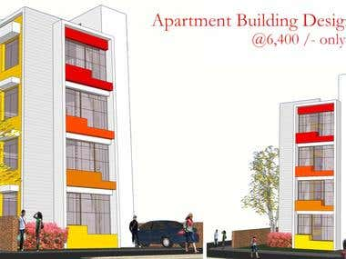 Apartment Building Design from HomePlansIndia