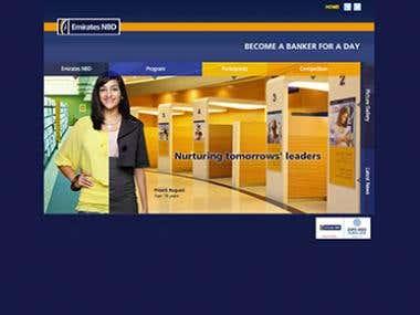 ENBD Bank micorsite