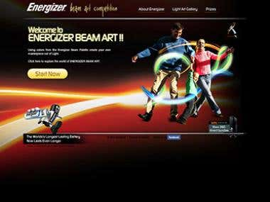 Energizer laser drawing game