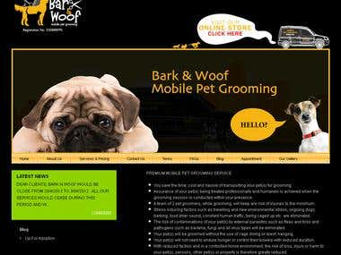 Pet Grooming Site- Magento Ecommerce
