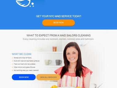 Cleaning & Maid Service company Website.