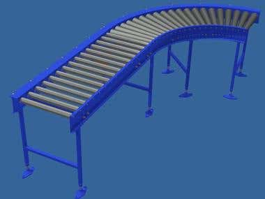 CHAIN DRIVE CONVEYOR WITH BEND