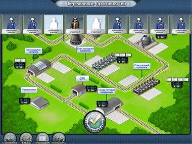 Educational game for employees of commercial organization