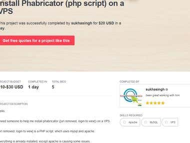 Phabricator script installation on CentOs