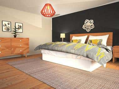 Interior Bedroom Rendering-01