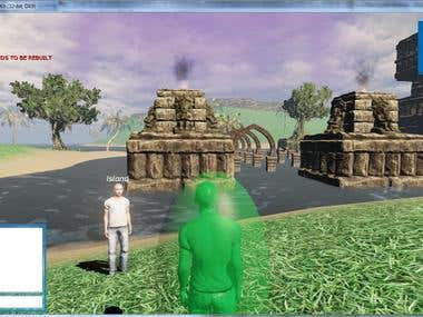 MMO game Island on UDK game engine