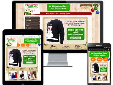 online eCommerce store developed in Shopify
