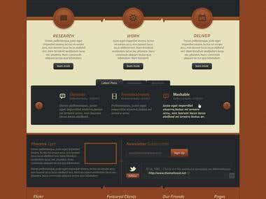 Web Design Mockup