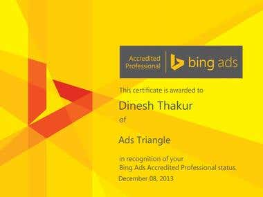 Bing Adcenter Accreditation