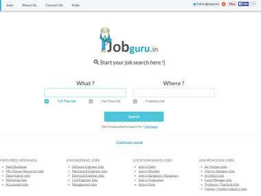 JobGuru.in : India's own job search engine