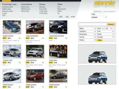 Aggregator / Market place for car rental companies