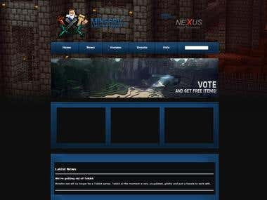 MineSrv - Minecraft Website
