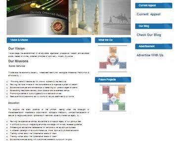RahmanFoundation NGO Site Dotnetnuke HTML5 CSS3 Jquery
