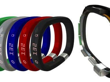 fitness-tracking wristband