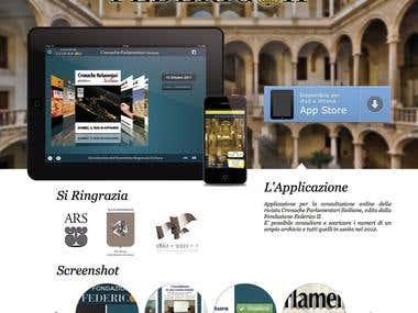 Fondazione Federico Secondo App Website